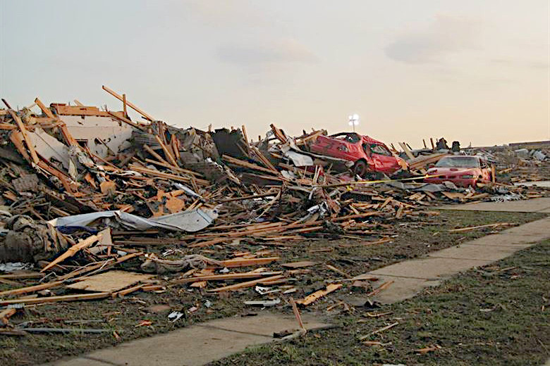 Moore, OK tornado destruction